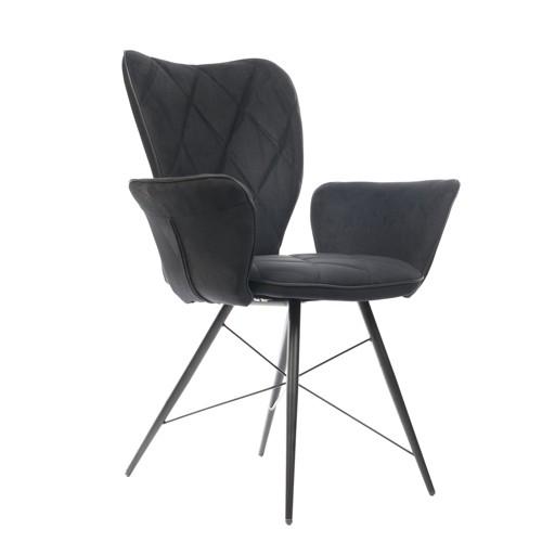 Stuhl schwarz mit Armlehne, Stuhl gepolstert mit Armlehne