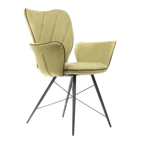 Stuhl grün mit Armlehne, Stuhl gepolstert mit Armlehne