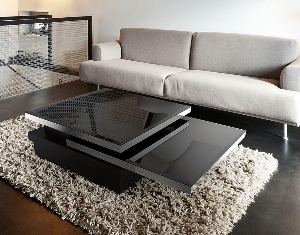 Couchtisch schwarz Glasplatte, Couchtisch Glas schwarz, Glastisch schwar,  Maße 120x80 cm