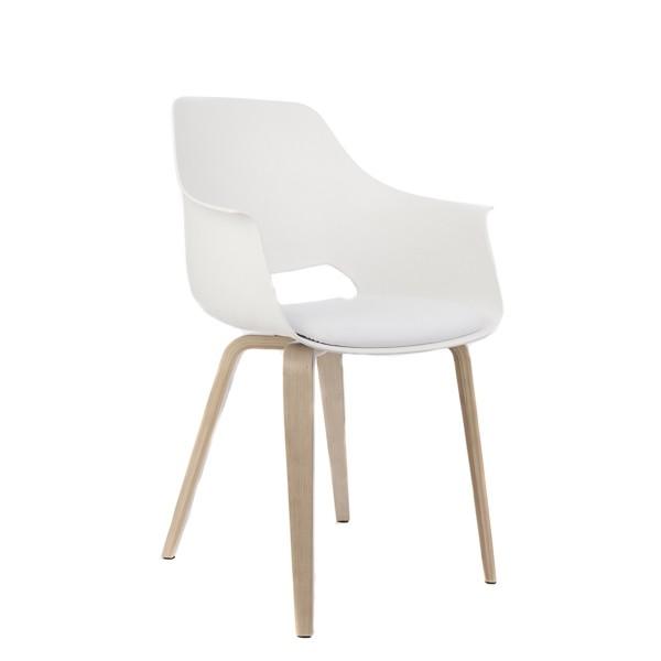 Stuhl weiß Kunststoff, Stuhl gepolstert weiß