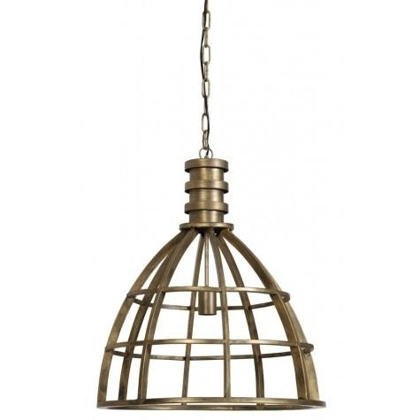 Pendelleuchte Gold, Metall Lampe Gold, Hängelampe Gold Metall, Durchmesser 50 cm
