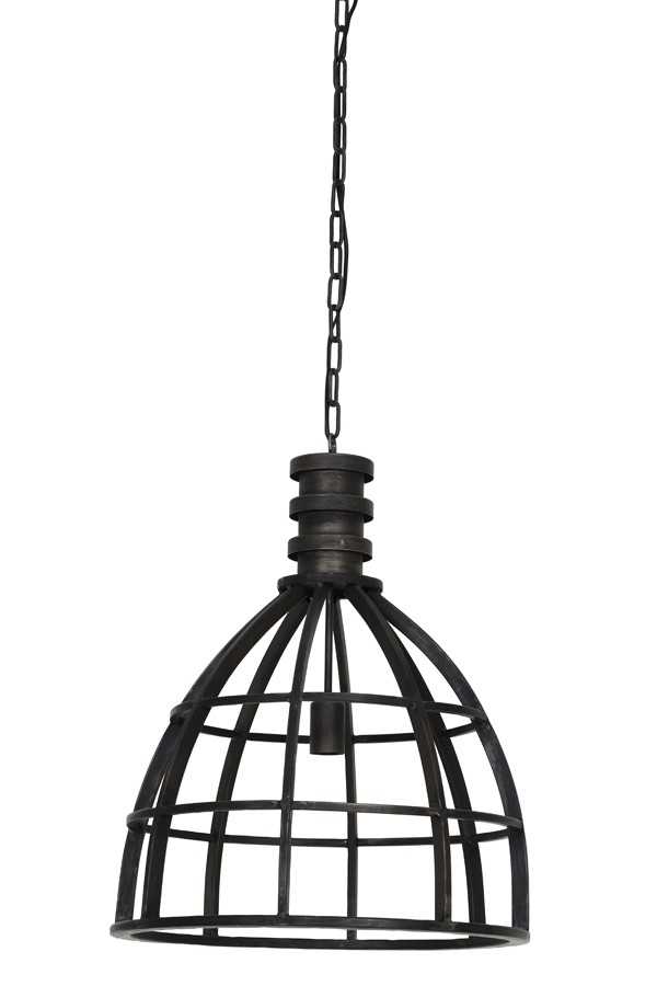 Pendelleuchte schwarz Metall Industriedesign, Hängeleuchte schwarz Industrie Metall, Hängelampe Metall, Durchmesser 50 cm