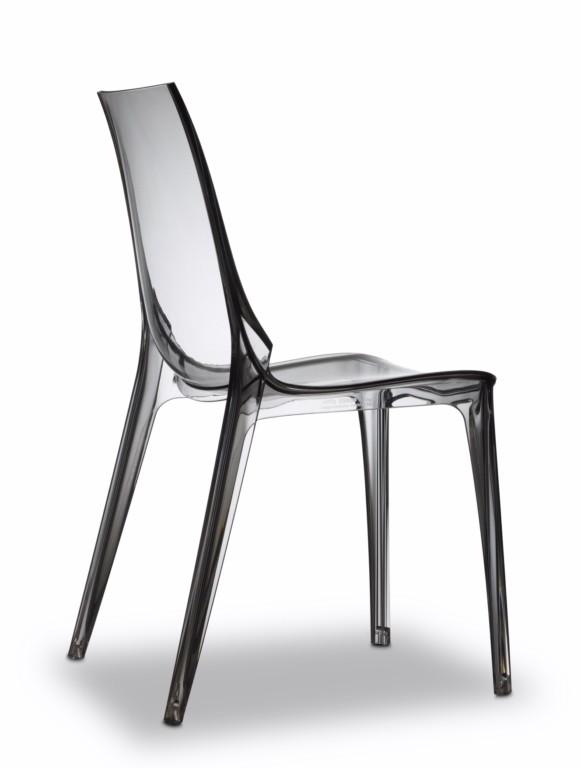 Stuhl grau transparent, Stuhl stapelbar grau, Stuhl Kunststoff