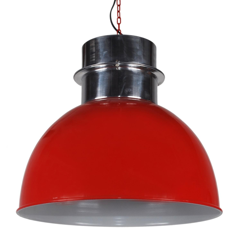 Pendelleuchte rund rot, Pendellampe rot, Hängeleuchte rot rund, Ø 50 cm