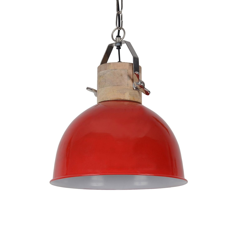 Pendelleuchte rot rund, Pendellampe rot, Hängeleuchte rot rund, Ø 30 cm