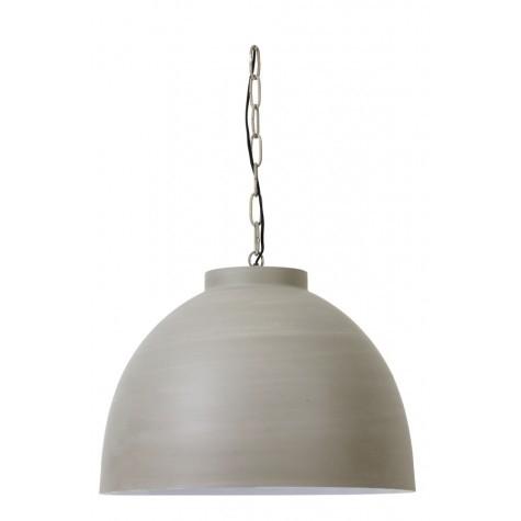 XXL Pendelleuchte Beton-Optik Metall, Hängeleuchte Metall, Hängelampe Metall Beton-grau, Durchmesser 60 cm