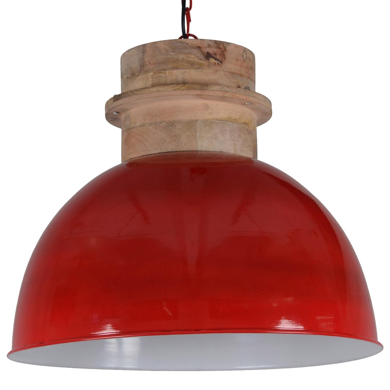 runde Pendelleuchte rot, Pendellampe rot, Hängeleuchte rot rund, Ø 40 cm