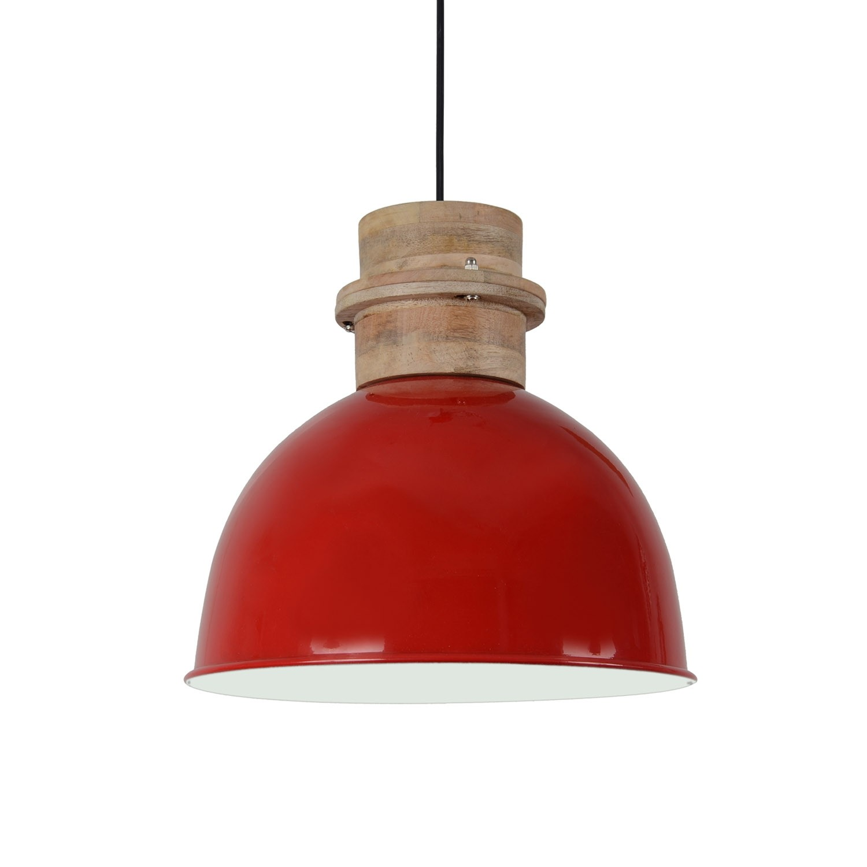 runde Pendelleuchte rot, Pendellampe rot, Hängeleuchte rot rund, Ø 30 cm