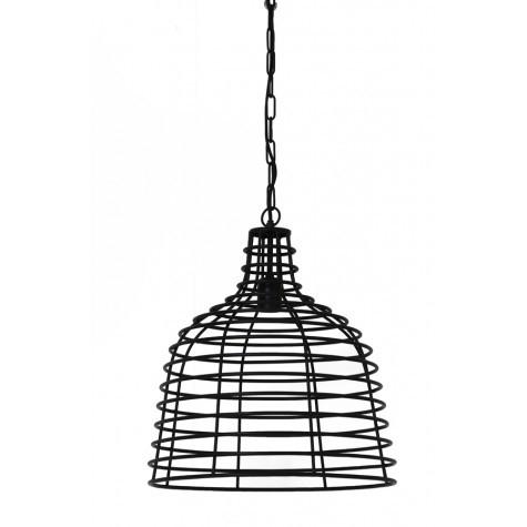 Pendelleuchte Metall schwarz, Pendellampe schwarz Metall, Hängeleuchte schwarz,  Ø 40 cm