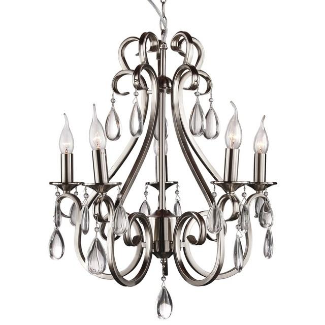 Hängeleuchte Silber, Pendelleuchte Silber, Hängelampe Silber, Durchmesser 56 cm