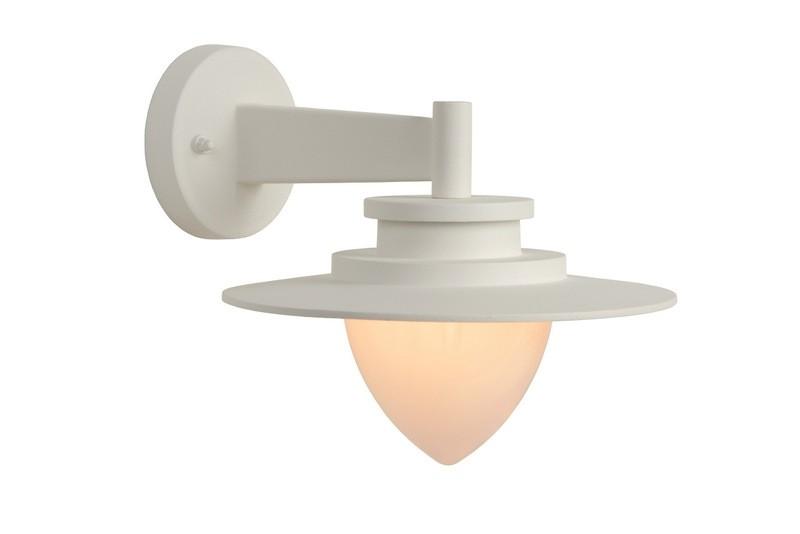 Wandleuchte weiß, Außenwandleuchte weiß, Wand-Außenleuchte weiß, Wandlampe rund weiß