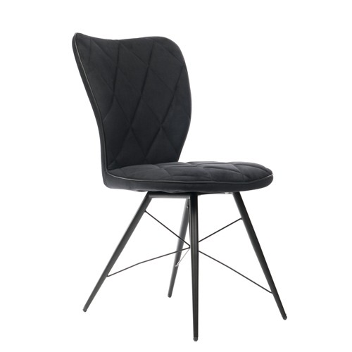 Stuhl schwarz, Stuhl gepolstert schwarz