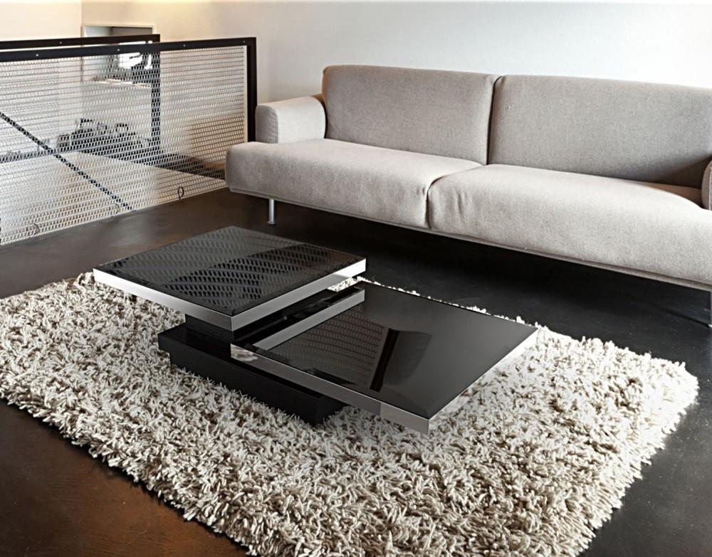 Couchtisch schwarz Glasplatte, Couchtisch Glas schwarz, Glastisch schwarz,  Maße 90x60 cm