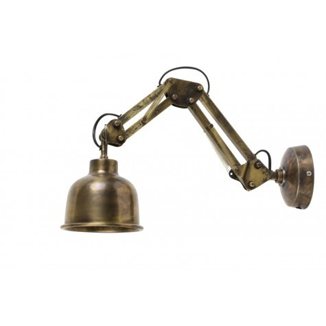 Arm Wandleuchte bronze antik, Arm Wandlampe, Durchmesser 12 cm