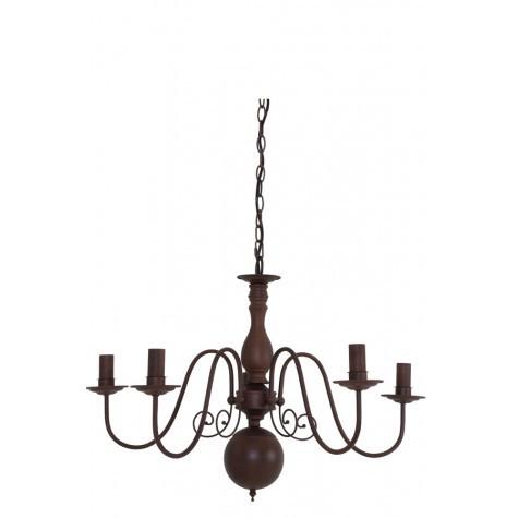 Kronleuchter 5-flammig, Hängelampe, Durchmesser 70 cm