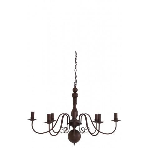 Kronleuchter 8-flammig, Hängelampe rost, Durchmesser 86 cm