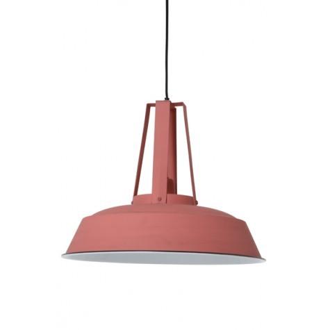 Hängelampe rosa im Industriedesign, Pendelleuchte rosa  Landhausstil, Durchmesser 42 cm
