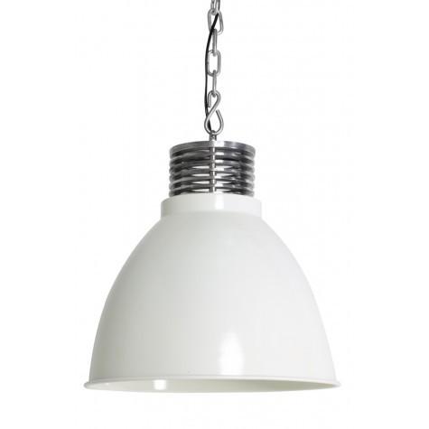 Hängeleuchte Farbe weiß-silber , Pendelleuchte weiß, Durchmesser 32 cm