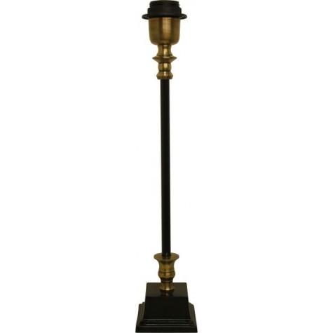 Lampenfuß Schwarz-Bronze, für eine Tischleuchte, Höhe 38 cm