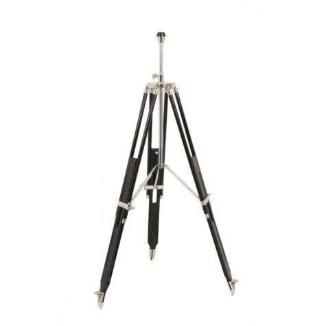 Lampenfuß für eine Stehlampe, Farbe Schwarz-Chrome, Höhe 114-180 cm
