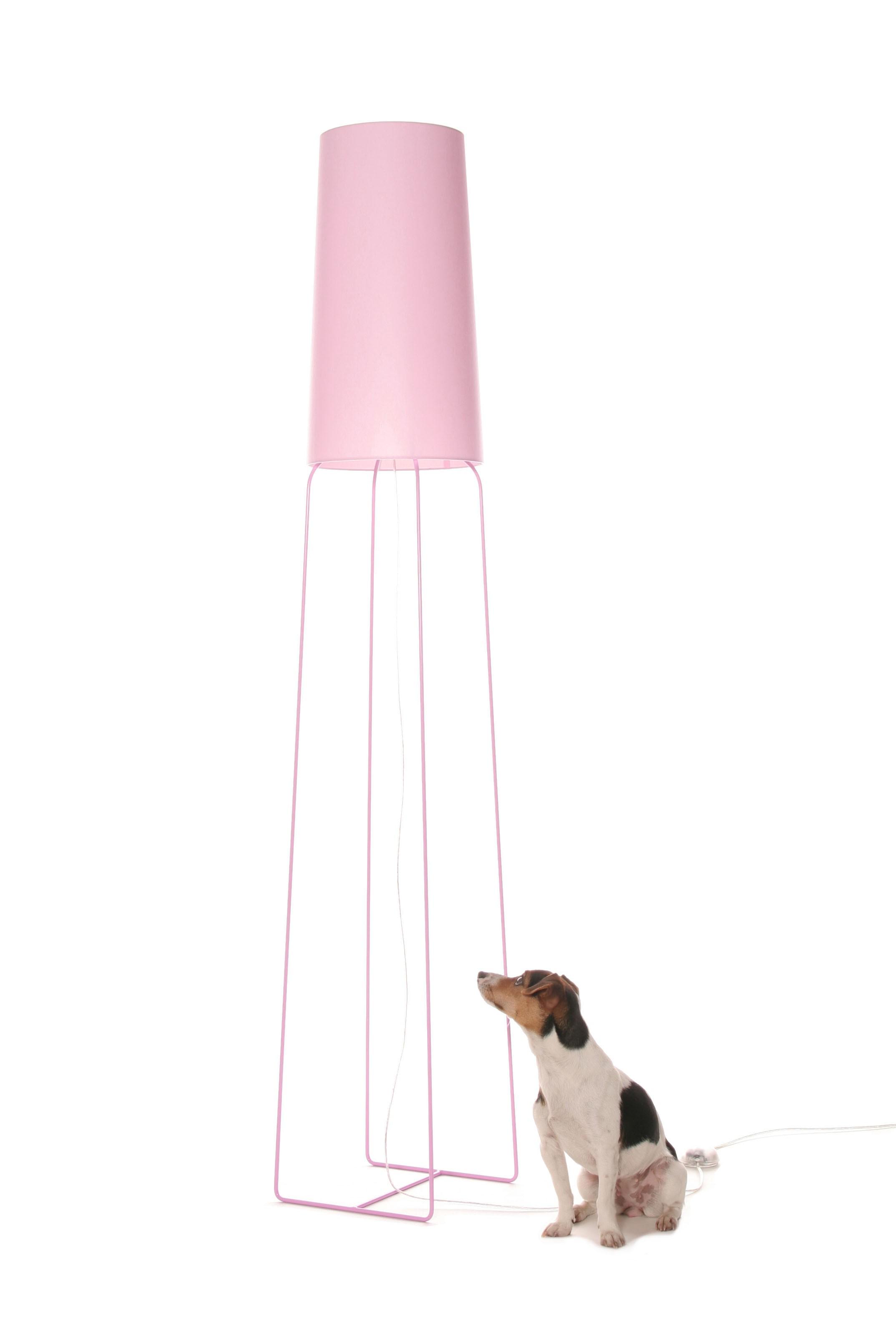 Stehleuchte rosa, Stehlampe mit Lampenschirm rosa-pink