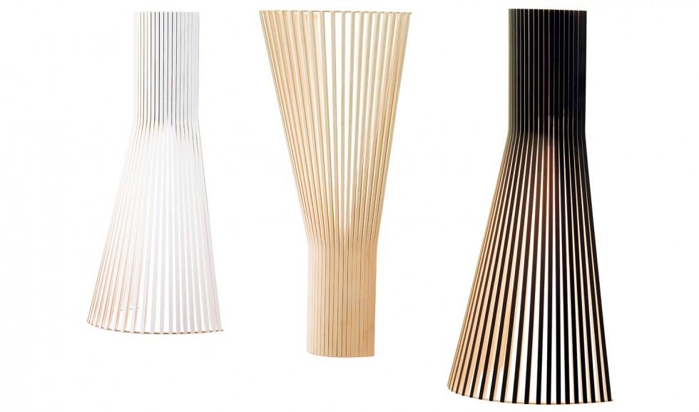 Design Wandleuchte aus Birkenholz, in vier Farben, 60 cm