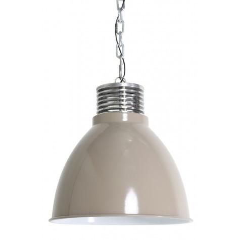 Hängeleuchte Farbe taupe-silber , Pendelleuchte taupe, Durchmesser 32 cm