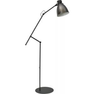 Stehleuchte in Metalloptik, Gunmetal, Industrielampe/ Retro-style, Höhe 194 cm