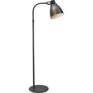 Stehleuchte in Metalloptik, Gunmetal, Industrielampe/ Retro-style, Höhe 176 cm