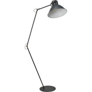 Stehleuchte in Metalloptik, Gunmetal, Industrielampe/ Retro-style, Höhe 208 cm