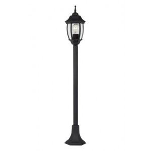 Gartenleuchte schwarz, Außenstandleuchte schwarz, Standleuchte außen schwarz, Höhe 120 cm