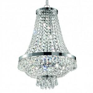 Kristall Kronleuchter Silber-Kristallglas, Kronleuchter Durchmesser 45 cm