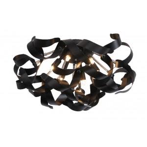 LED Deckenleuchte schwarz, LED Deckenlampe schwarz, Durchmesser 50 cm
