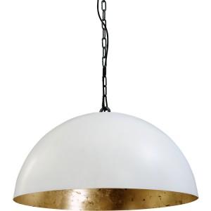 Pendelleuchte gold-weiß, Industrielampe/ Retro-style, Schirm-Ø: 50 cm