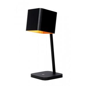 LED Tischleuchte schwarz-gold, LED Tischlampe schwarz-gold, Durchmesser 15 cm