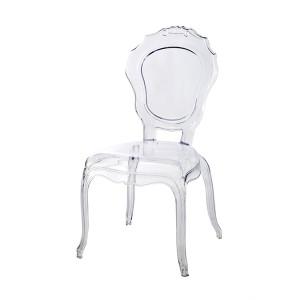 Stuhl Barock transparen aus Kunststoff