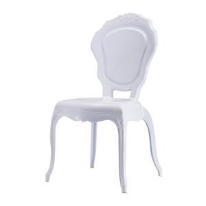 Stuhl Barock weiß aus Kunststoff