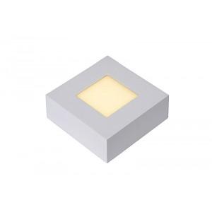 LED Deckenleuchte quadratisch weiß, Deckenlampe weiß, Maße 10x10 cm