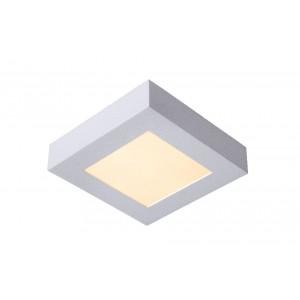 LED Deckenleuchte quadratisch weiß, Deckenlampe weiß, Maße 16x16 cm
