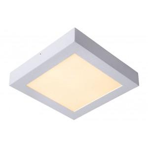LED Deckenleuchte quadratisch weiß, Deckenlampe weiß, Maße 30x30 cm