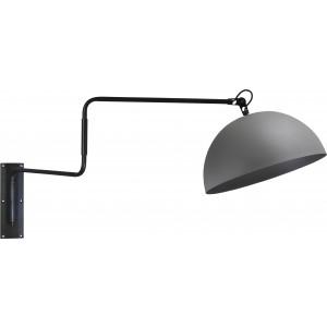 Wandleuchte grau-schwarz, Beton-look, Industrielampe/ Retro-style, Ø: 40 cm