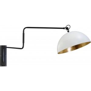 Wandleuchte gold-weiß, Industrielampe/ Retro-style, Ø: 40 cm