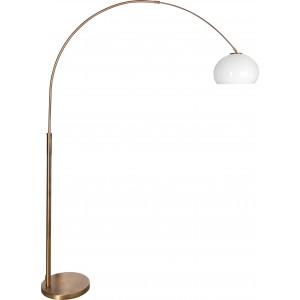 Design Bogenleuchte, Bronze, Schirm rund