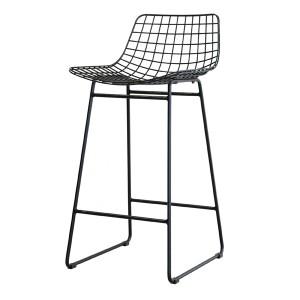 Barstuhl Metall schwarz, Barstuhl schwarz Metall, Sitzhöhe 67 cm