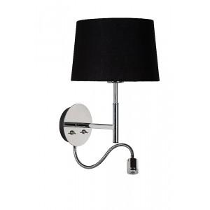 Wandlampe LED mit Lampenschirm, Wandleuchte mit LED Strahler