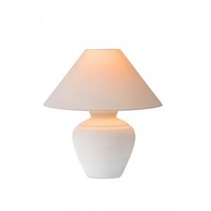 Tischleuchte weiß mit Lampenschirm, Durchmesser 53 cm