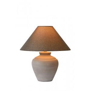 Tischleuchte grau mit Lampenschirm, Durchmesser 30 cm