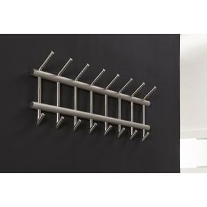 Wandgarderobe Edelstahl, Garderobe silber Edelstahl, Breite 90 cm