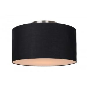 Deckenleuchte rund schwarz, Deckenlampe Lampenschirm schwarz, Durchmesser 35 cm