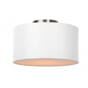 Deckenleuchte rund weiß, Deckenlampe Lampenschirm weiß, Durchmesser 35 cm